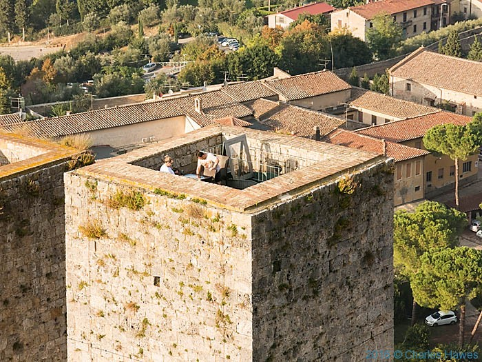 Tower in San Gimignano, Tuscany, photographed by Charles Hawes