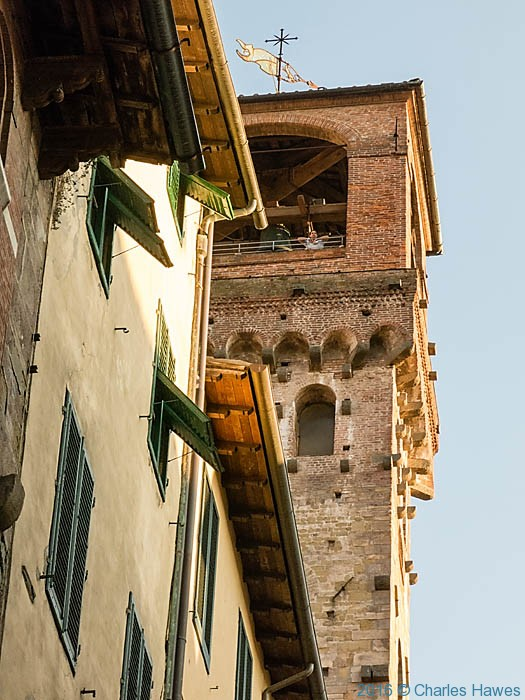 Tower in Lucca, photographed by Charles Hawes