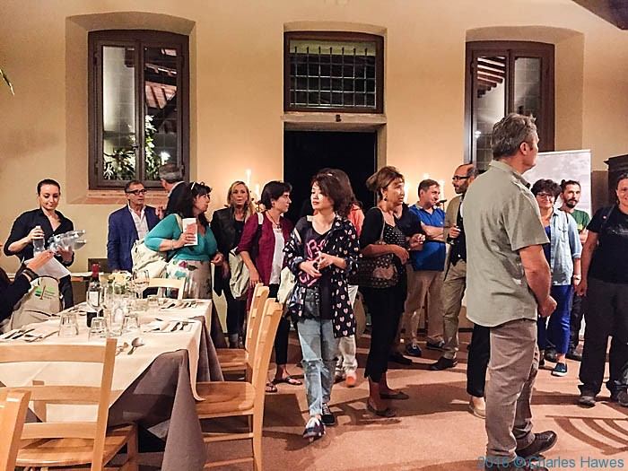 Pilgrim dinner at the Cassermetta San Salvatore, Lucca, photographed by Charles Hawes