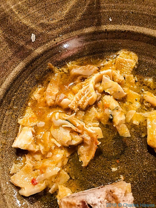 Dish of tripe at Casermetta San Salvatore, Lucca, Italy, photographed by Charles Hawes