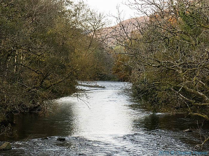 River Towy near Rhandirmwyn photographed from The Cambrian Way by Charles Hawes