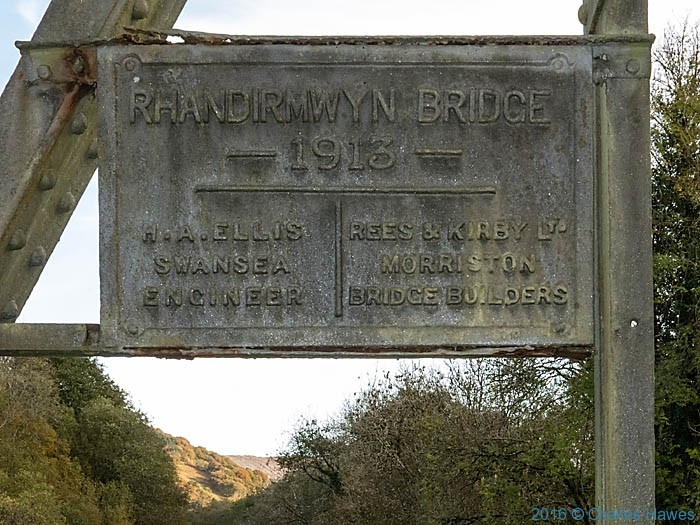 Rhandirmwyn Bridge photographed from The Cambrian Way by Charles Hawes