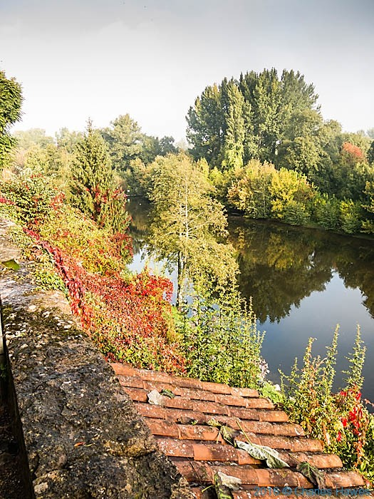 River Dordogne from Carennac, photographed by Charles Hawes