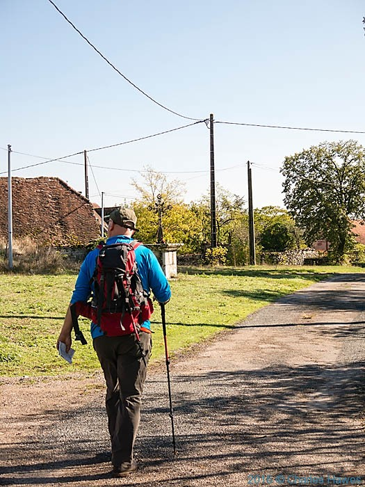Walking through Bouyrissac, France, photographed by Charles Hawes