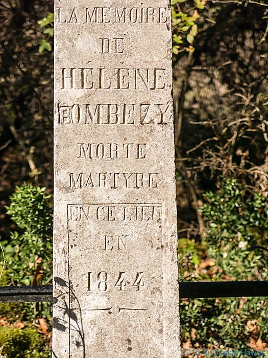 Croix Helene on the GR652 near Loubressac, France, photographed by Charles Hawes