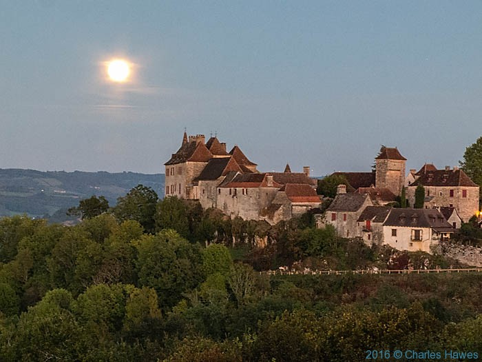 View to Loubressac from Relais de Castlenau, photographed by Charles Hawes