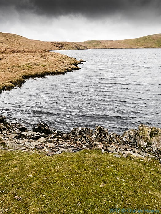 Llyn Egnant, photographed from The Cambrian Way by Charles Hawes
